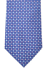 Hugo Boss Tie Navy Blue Purple Pink Squares - Narrow Tie