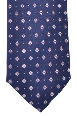 Hugo Boss Tie Navy Pink Geometric