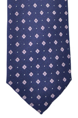 Hugo Boss Tie Navy Pink Geometric - Narrow Tie