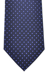 Hugo Boss Tie Dark Navy Pink Silver Dots - Narrow Tie