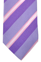 Hugo Boss Tie Purple Lilac Pink Stripes - Narrow Tie