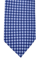 Hugo Boss Tie Navy White Geometric