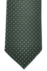 Hugo Boss Tie Black Green Silver Dots