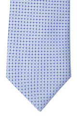 Hugo Boss Tie White Blue Navy Geometric