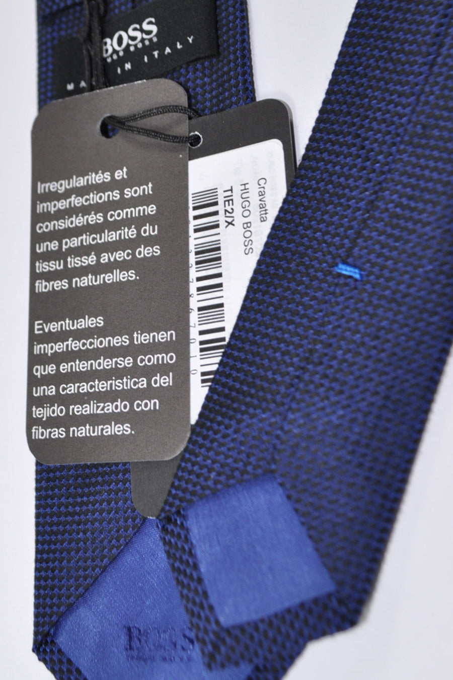 Hugo Boss Skinny Tie Navy Royal Blue