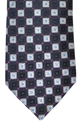 Hugo Boss Tie Black Purple Silver Geometric SALE