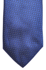Hugo Boss Silk Tie Navy Silver Geometric