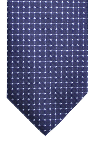 Hugo Boss Silk Tie Navy Silver Dots