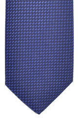 Hugo Boss Silk Tie Purple Dark Gray Geometric