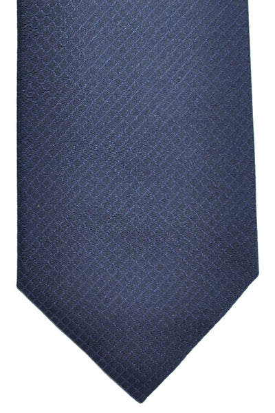 Hugo Boss Silk Tie Black Dark Gray Grid