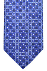 Hugo Boss Silk Tie Purple Navy Geometric