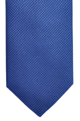 Hugo Boss Silk Tie Navy Royal Blue Geometric