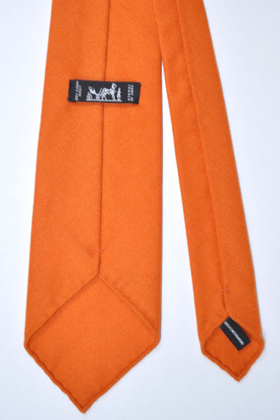 Hermes Cashmere Tie Orange