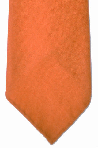 Hermes Cashmere Tie Solid Orange
