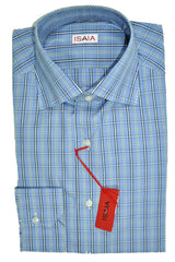 Isaia Dress Shirt Blue Navy Olive