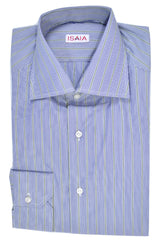 Isaia Dress Shirt White Navy Green