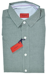 Isaia Sport Shirt Sage Green Gray 41 - 16