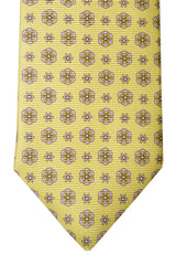 Isaia Sevenfold Tie Yellow Floral
