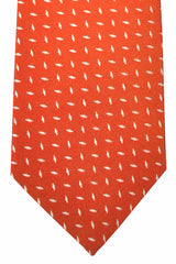 Isaia Tie Red Silver Gold
