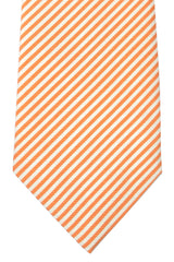 Isaia Sevenfold Tie White Orange Stripes