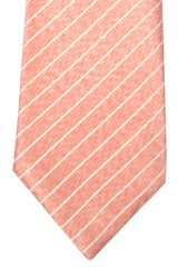 Isaia Sevenfold Tie Pink Silver Stripes