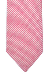 Isaia Tie Pink Stripes