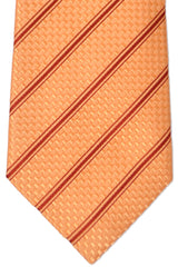 Isaia Tie Peach Maroon Stripes - SALE