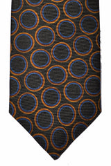 Isaia Tie Green Blue Orange Circles