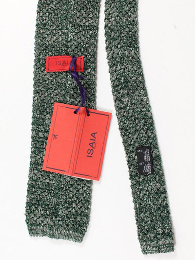 Isaia Square End Knitted Tie