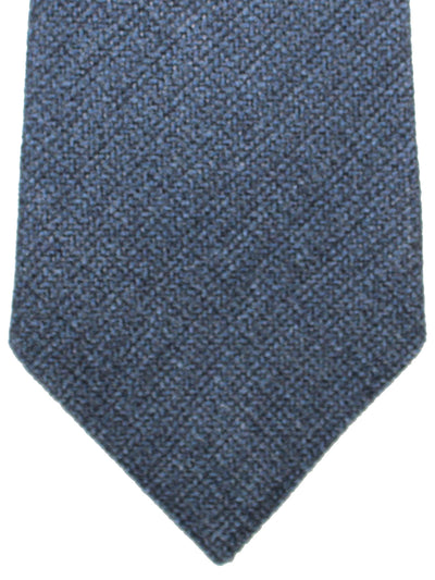 Isaia Sevenfold Tie Navy Solid