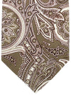 Isaia Sevenfold Tie Forest Green Ornamental