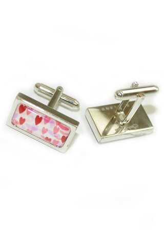 Sonia Spencer Cufflinks Pink Hearts