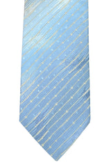 Kenzo Narrow Tie Blue Sky Blue Silver Stripes