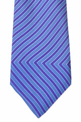 Kenzo Tie Purple Navy Pink Stripes