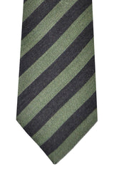 Kenzo Tie Green Stripes - Narrow Necktie