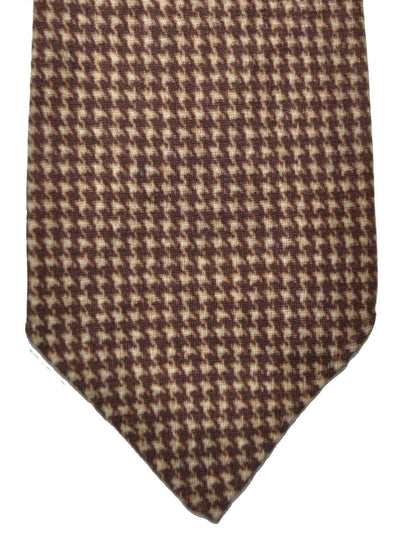 Kiton Cashmere Silk Tie Brown