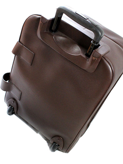 Kiton Travel Bag Brown Leather Carry On Spinner Bag