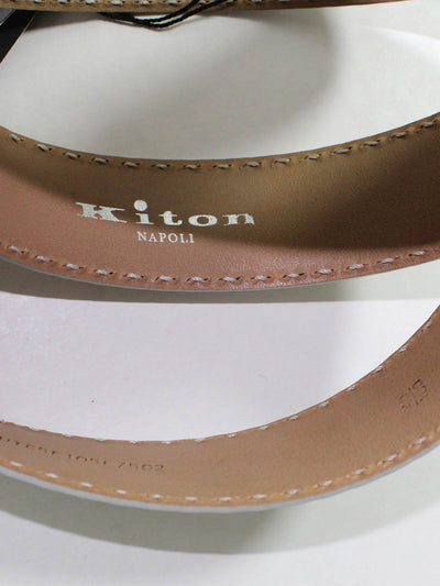 Kiton Belt Gray Leather Belt