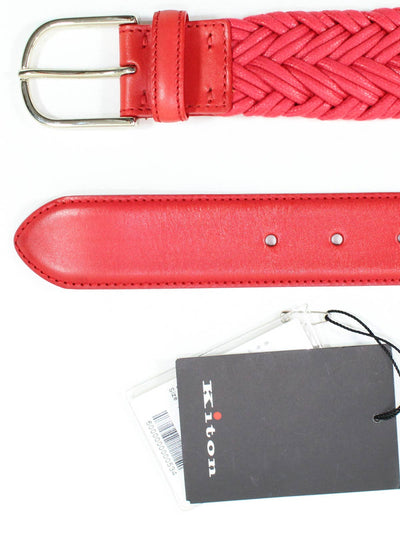 Kiton Belt Red Pink Men Belt New