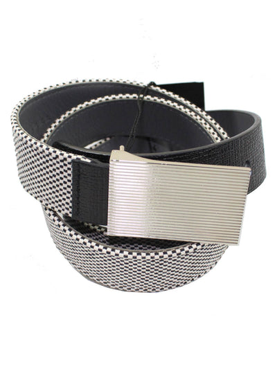 Kiton Belt Black White Men Belt New