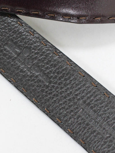 Kiton Leather Belt Dark Brown Men Belt 100 / 40