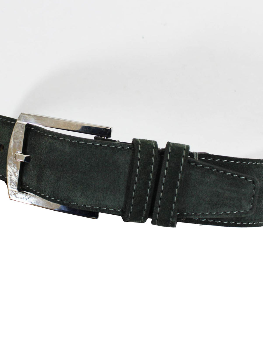 Kiton Suede Leather Belt Green Men Belt