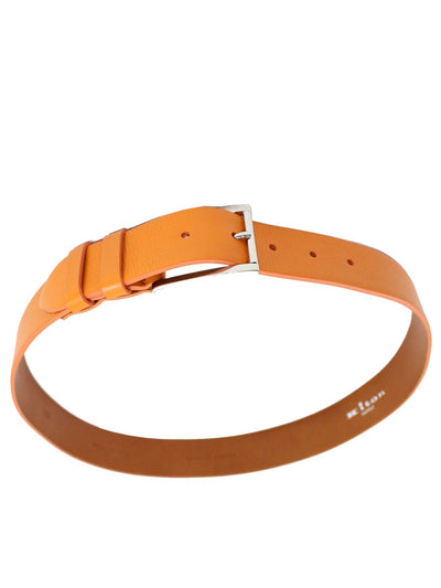 Kiton Leather Belt Orange Men Belt