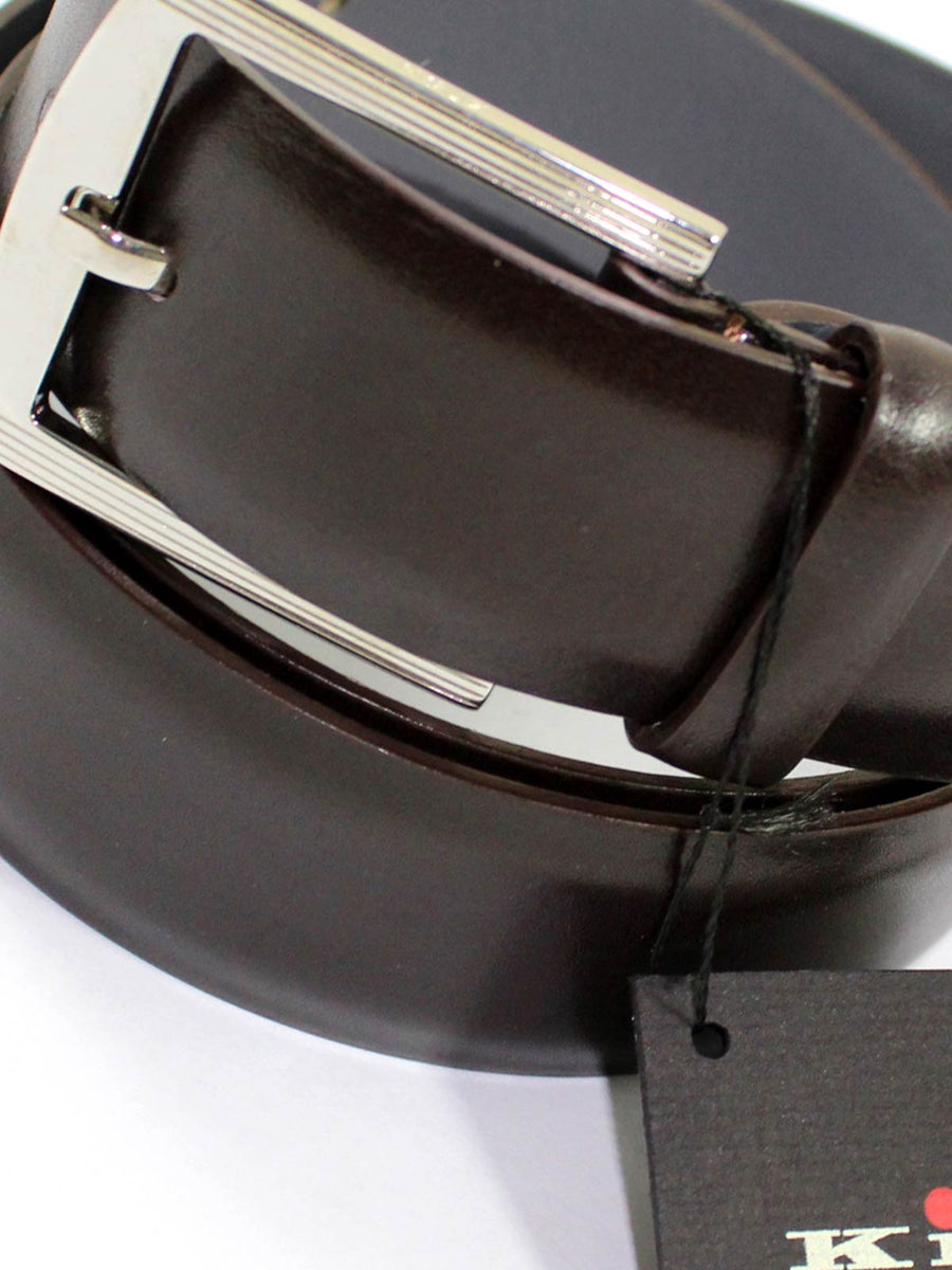 Kiton Belt Brown Leather Men Belt