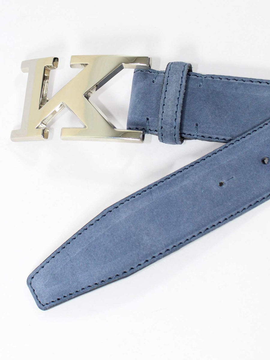 Kiton Belt Midnight Blue