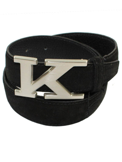 Kiton Belt Black Suede Men Belt