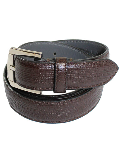 Kiton Belt Dark Brown Narrow Leather Men