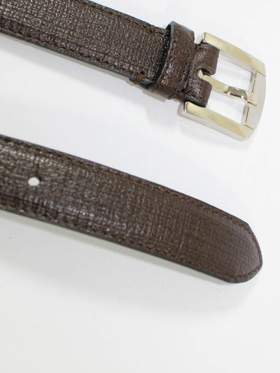 Kiton Belt Dark Brown Narrow Leather Men Belt 90 / 36