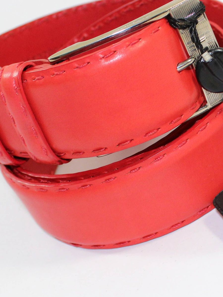Kiton Leather Belt Red Men Belt