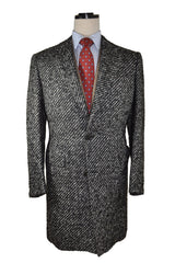 Kiton Wool Coat Charcoal Gray Cipa 1960